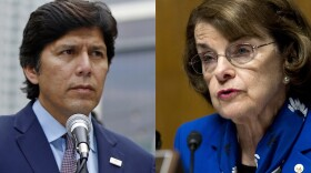 Sen. Dianne Feinstein, D-Calif and California state Senate president pro tem and Democratic candidate for the U.S. Senate Kevin de Leon are shown in this undated photo.