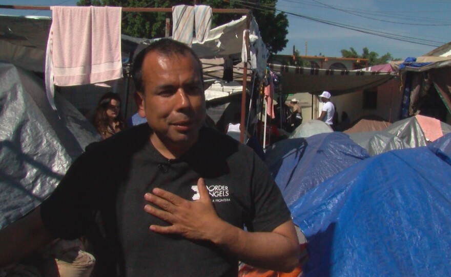 Hugo Castro, San Diego activist, volunteers to help Haitian refugees in Mexico, March 16, 2017.