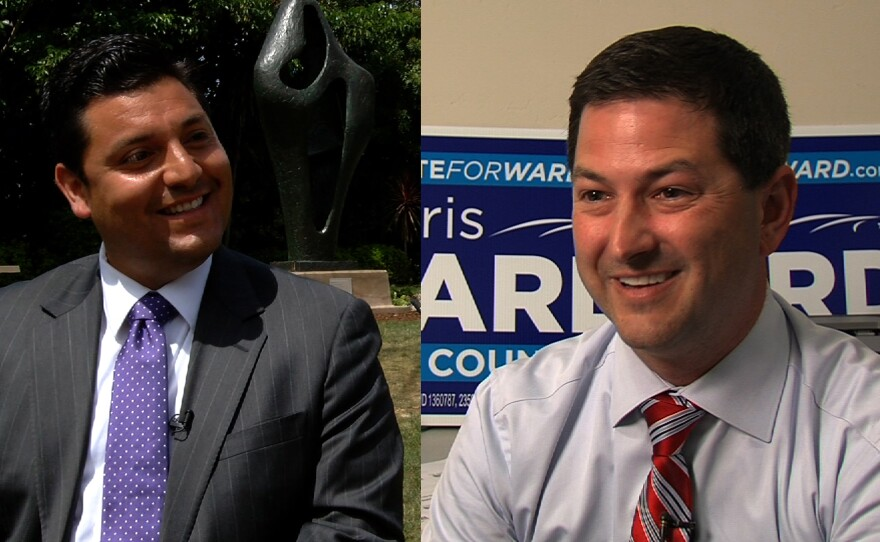 City council candidates Anthony Bernal and Chris Ward.
