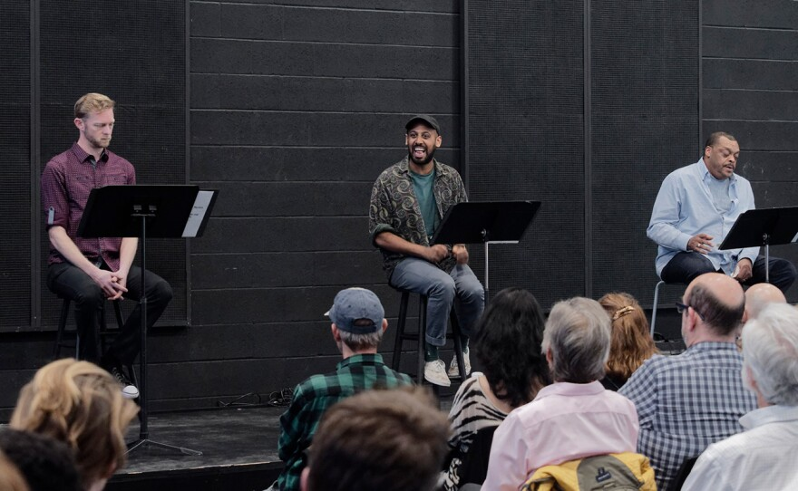 Actors read scripts before an audience in the 2019 DNA New Works reading at the La Jolla Playhouse. The event returns to the Playhouse beginning July 22, 2021.
