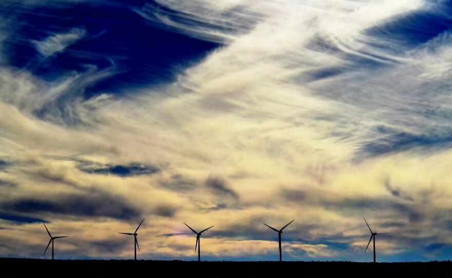 Cross-border wind generation project Energía Sierra Juárez, at La Rumorosa, Tecate, Baja California is shown in this undated photo.