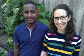 Omar Mohamed and Victoria Jamieson