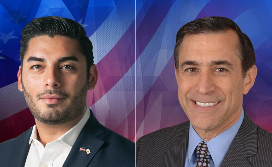 50th Congressional candidates Ammar Campa-Najjar (left) and Darrell Issa (right) in this undated photo