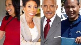 The four candidates competing in the race of San Diego's district four city council seat, left to right, Myrtle Cole, Monica Montgomery, Neal Arthur and Tony Villafranca, are seen in these undated photos.