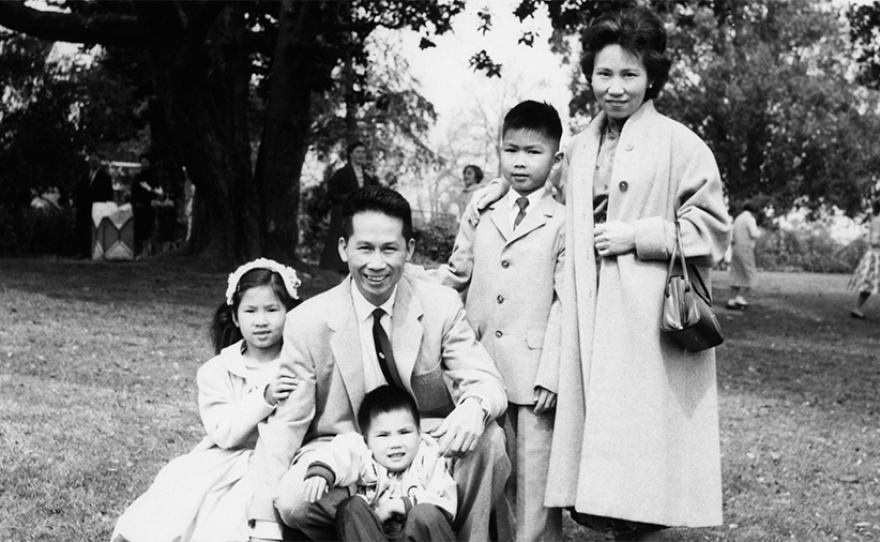 Amy Tan and family. (undated photo)