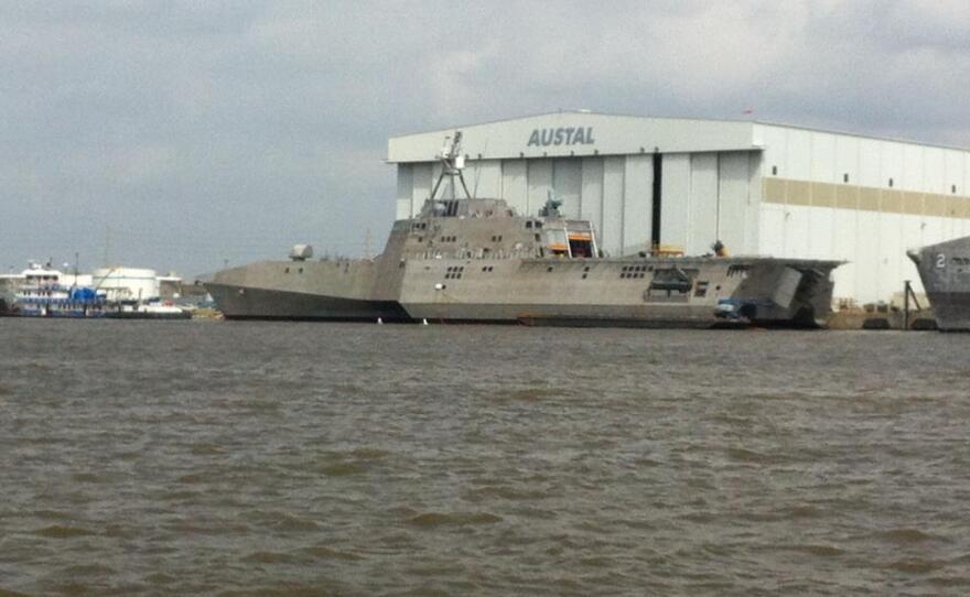 The littoral combat ship Coronado.