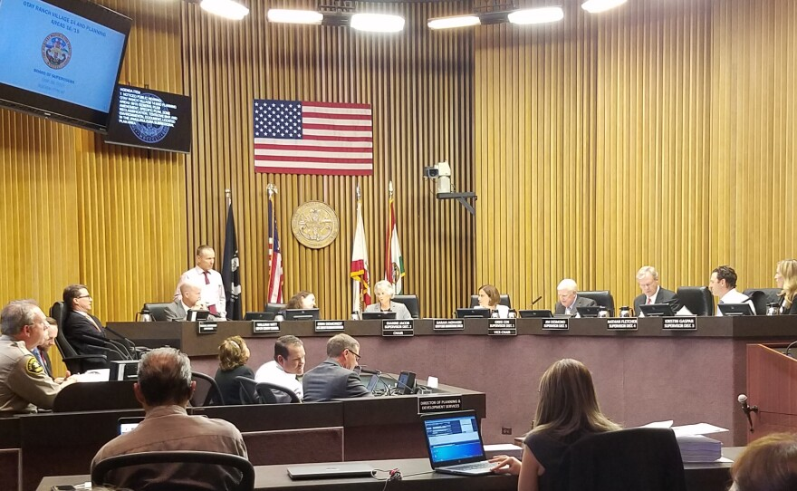 San Diego County Board of Supervisors in chamber on June 26, 2019.