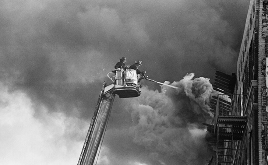Firefighters in the South Bronx. (undated photo)