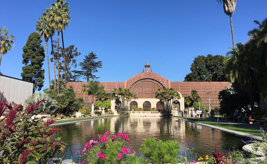 The Balboa Park Botanical Building and Lily Pond are shown in this photo, Nov. 24, 2016.