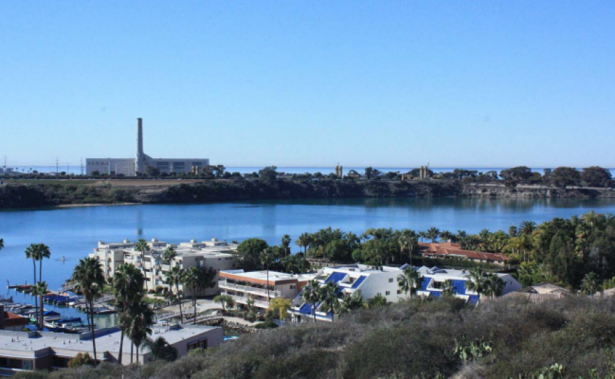 This undated photo shows the Encina Power Station and the site of the proposed Carlsbad Energy Center from the Pannonia Trail at Capri Park in Carlsbad.