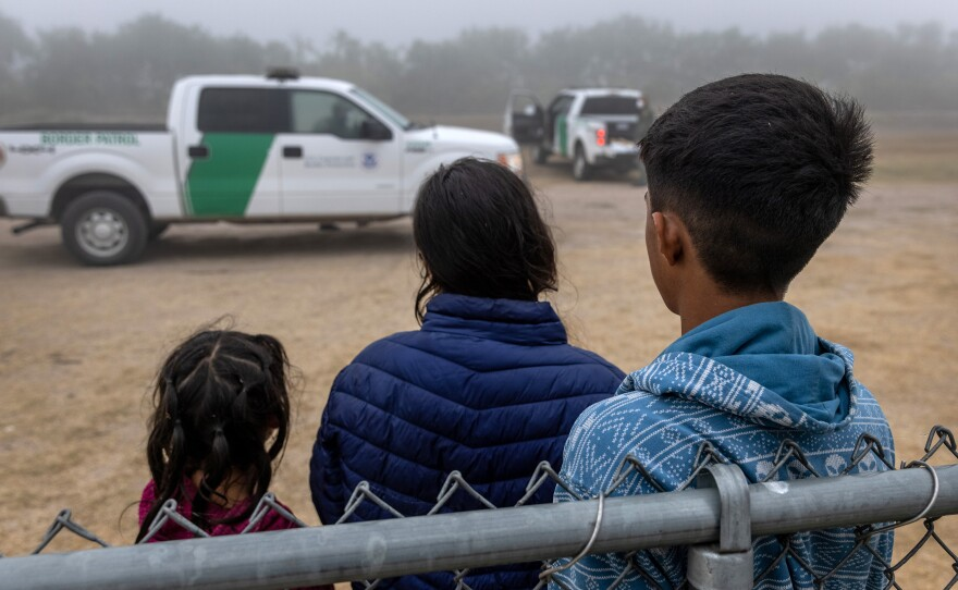 Unaccompanied minors wait to be processed by U.S. Border Patrol agents near the U.S.-Mexico border in La Joya, Texas on April 10. The Biden administration faces big challenges as it deals with the record-breaking surge of unaccompanied minors.