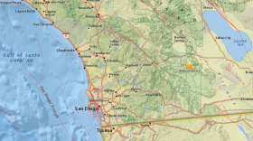 The epicenter of an earthquake in Ocotillo Wells, California is shown in this image.
