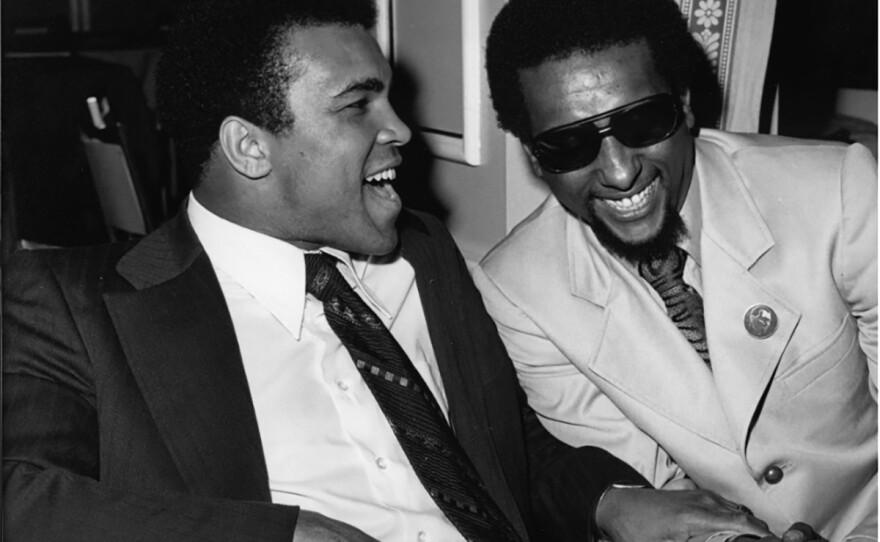 Guy Crowder, Muhammad Ali and Stokely Carmichael, Los Angeles, 1973 Photograph, Tom and Ethel Bradley Center, CSUN.