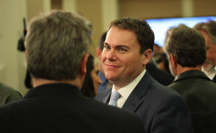 Carl DeMaio attends an election night party for Kevin Faulconer, Feb. 11, 2014.