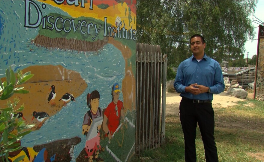 Antonio Figueroa speaks about his experience with Ocean Discovery Institute, April 24, 2017.