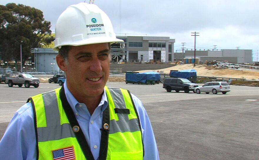 Poseidon Water Vice President Peter MacGlaggan talks about the start of operations at the Carlsbad plant on July 8, 2015.