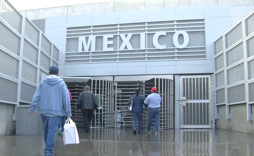 Pedestrians cross into Mexico through the San Ysidro Port of Entry, Nov. 3, 2015.