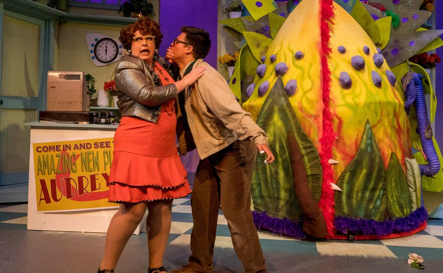 """A 2019 photo from New Village Arts' production of """"Little Shop of Horrors."""""""