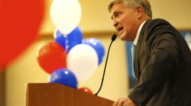 San Diego County Supervisor Dave Roberts speaks to supporters at the Westin Gaslamp Hotel, Nov. 8, 2016.