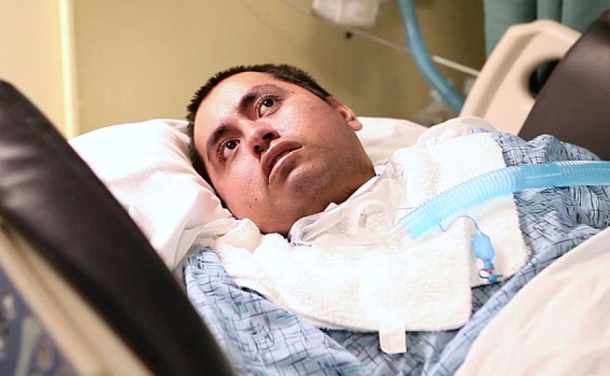 66 Garage, is shown at the Villa Coronado Skilled Nursing Facility where he lives, Feb. 5, 2015.