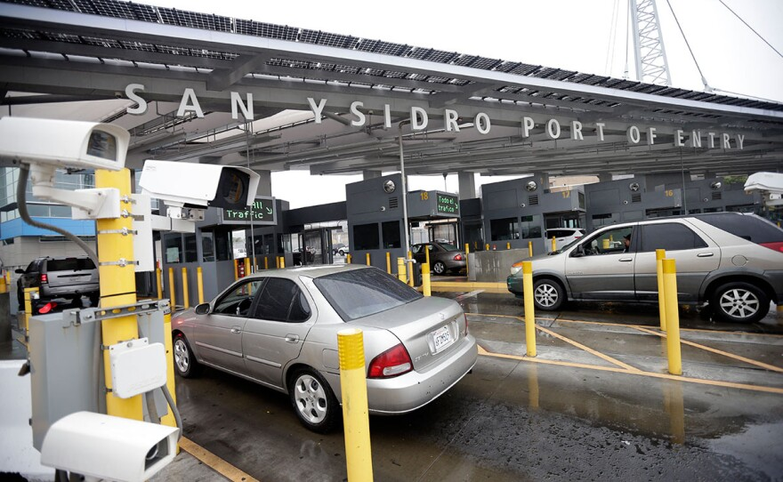 Cars wait to enter the United States from Tijuana through the San Ysidro Port of Entry, Dec. 3, 2014.