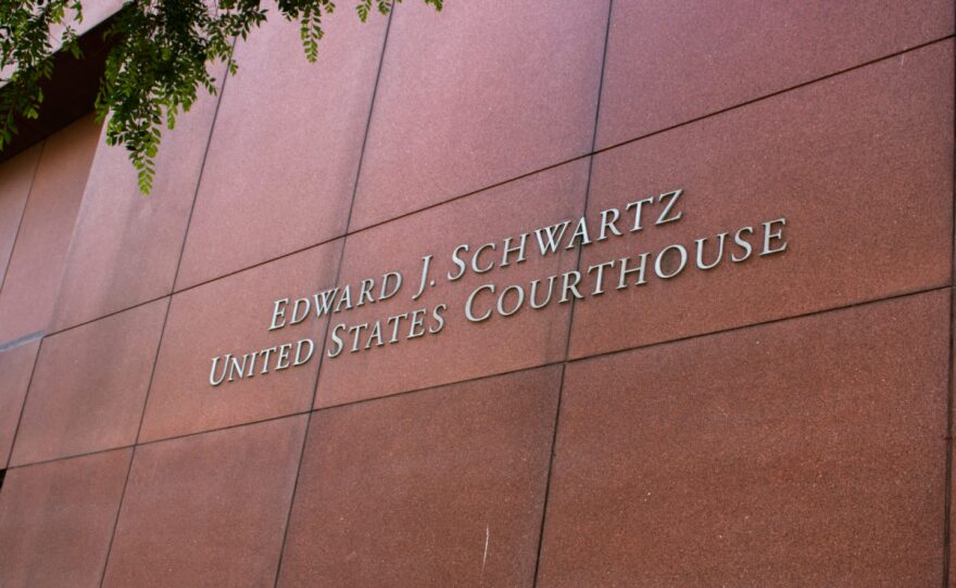 The Edward J. Schwartz federal courthouse building in downtown San Diego