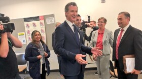 California Lieutenant Governor Gavin Newsom met with students and community members at Grossmont College in El Cajon Wednesday, May 2, 2018.