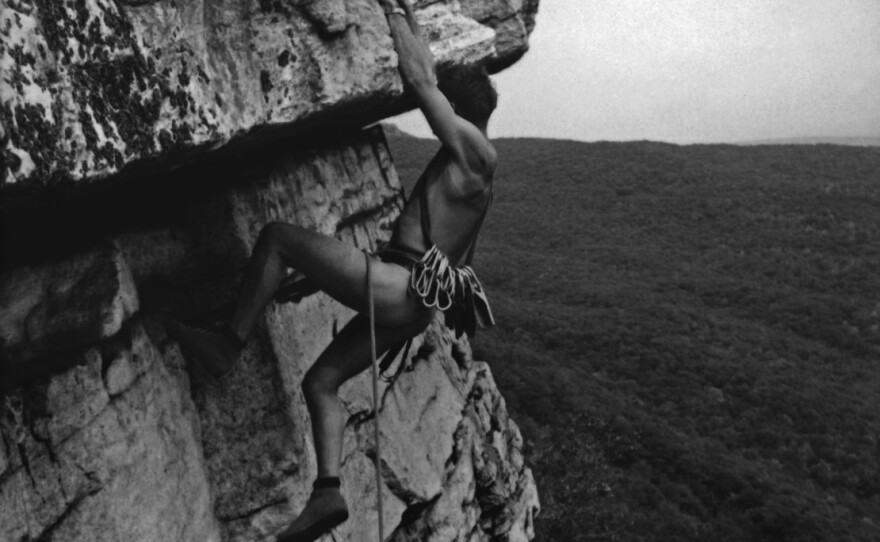 """One of the many archive images of rock climbing that make the new documentary """"Brave New Wild"""" so engaging."""