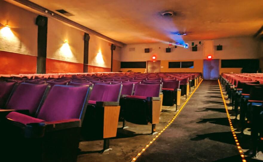 The auditorium of the vintage single screen Ken Cinema.