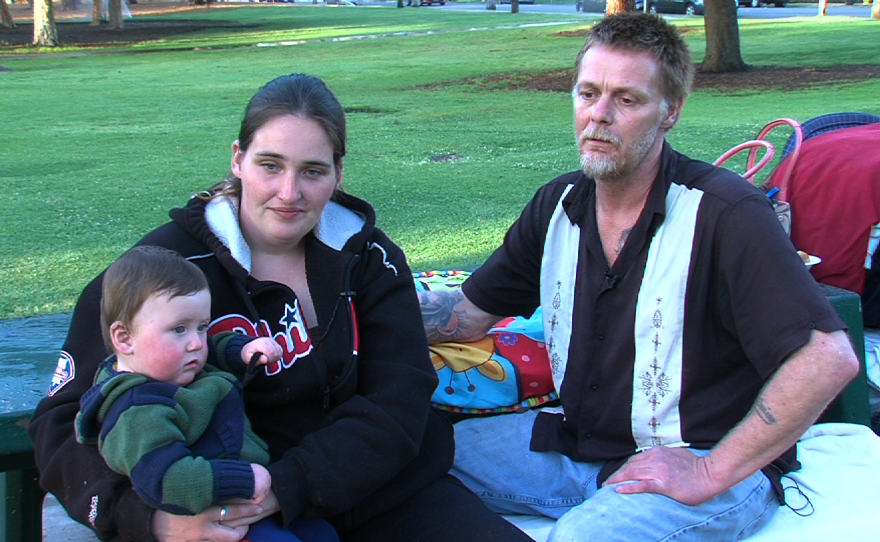 The Riddle family is homeless and waiting to get into a long-term shelter at St. Vincent de Paul Villages. They spend their days at a park near downtown San Diego.