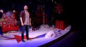 "Wil Bethmann as Crumpet in Diversionary Theatre's production of David Sedaris' ""Santaland Diaries."""
