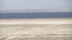 Receding shoreline at the Salton Sea on Feb. 25, 2019.