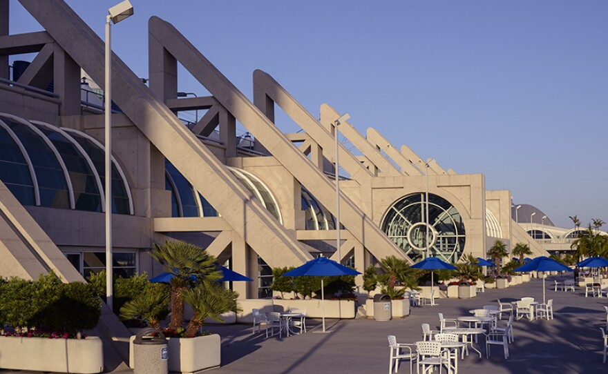 A view of the San Diego Convention Center from the bayside, June 1, 2014.