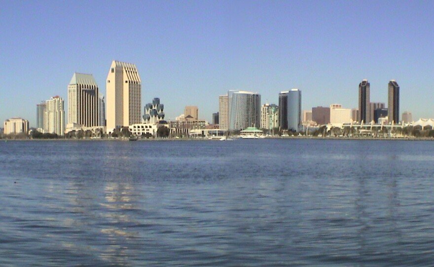 The San Diego skyline is shown in this undated photograph.