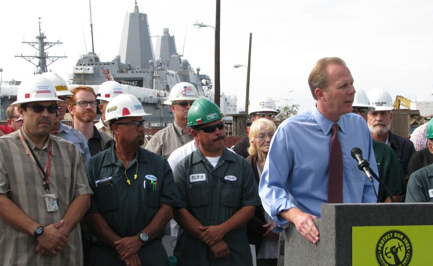 San Diego City Councilman Kevin Faulconer supports the referendum of the Barrio Logan community plan, Oct. 3, 2013.
