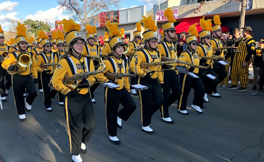 Iowa Hawkeye Marching Band in front of SDCCU Stadium before the Holiday Bowl game against USC, Dec. 27, 2019.