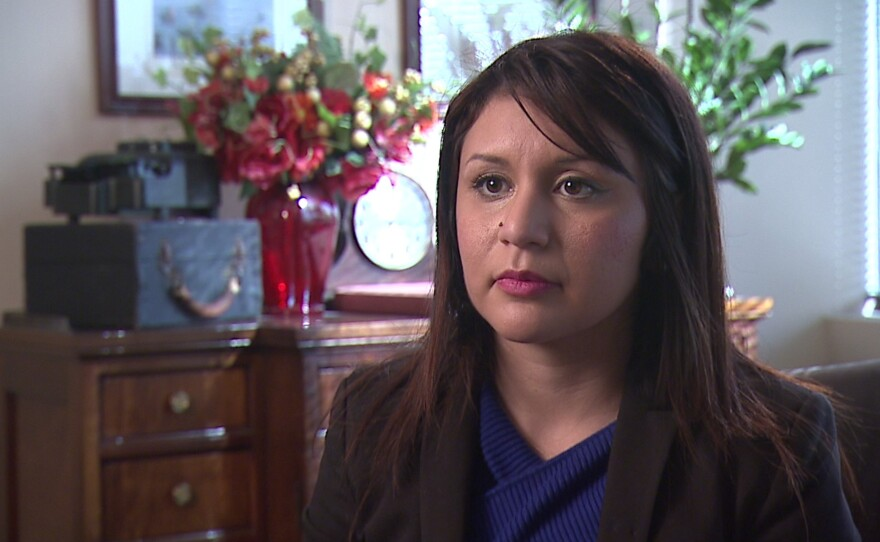Sandy Naranjo speaks to KPBS in an interview, January 2017.