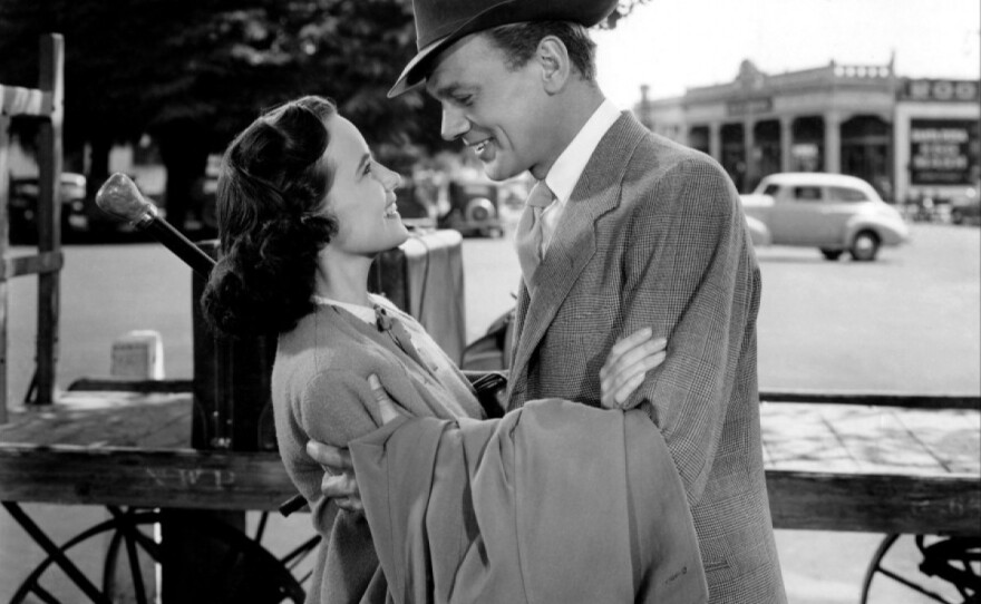 """Teresa Wright plays a young woman who suspects her beloved uncle (Joseph Cotton) of being a murderer in Alfred Hitchcock's """"Shadow of a Doubt."""""""