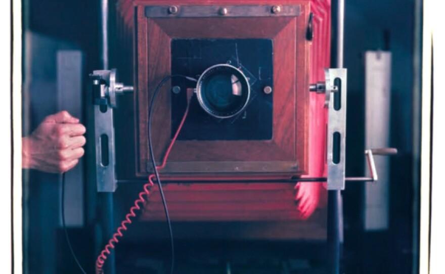 The large 20x24 Polaroid camera Mantoani uses for making portraits.