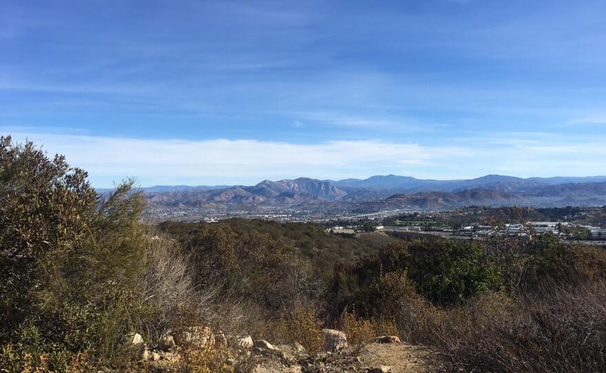 Looking towards Santee from Cowles Mountain, Jan. 13, 2018.