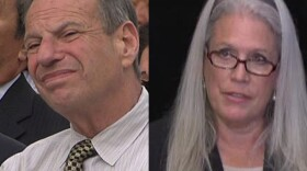 Disgraced former San Diego Mayor Bob Filner and Filner's ex-communications director, Irene McCormack Jackson are shown in this composite image.
