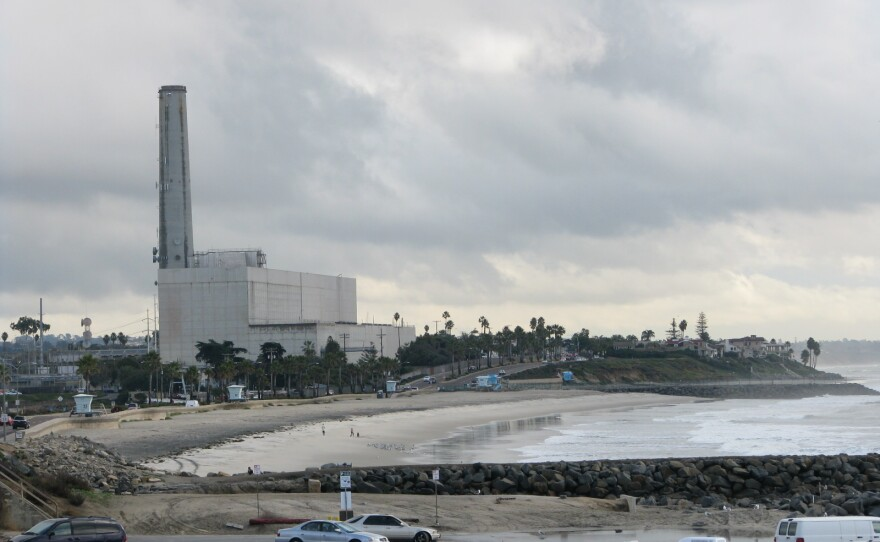The Encina Power Station operates on the beach in Carlsbad, December 2011.