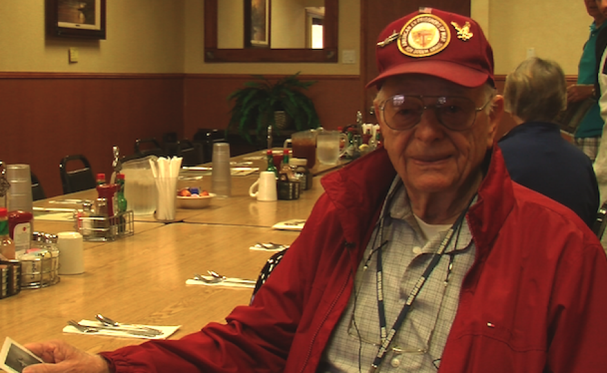 Ed Davidson, a former POW from World War II, reflects on what Memorial Day means to him, May 26, 2016,
