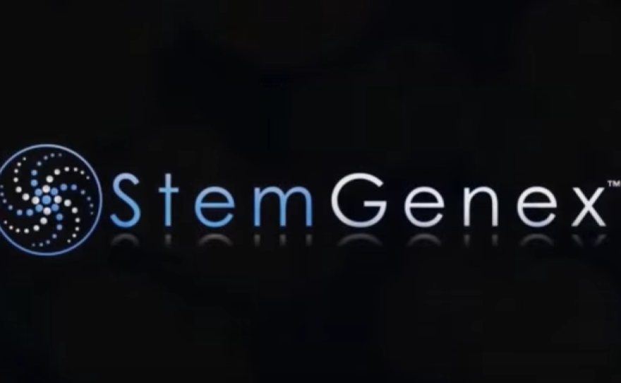 """A Stemgenex logo appears in a video posted to the company's Youtube page on Oct. 22, 2013 under the title """"Stem Cell Therapy - A Solution For Parkinson's Disease."""""""