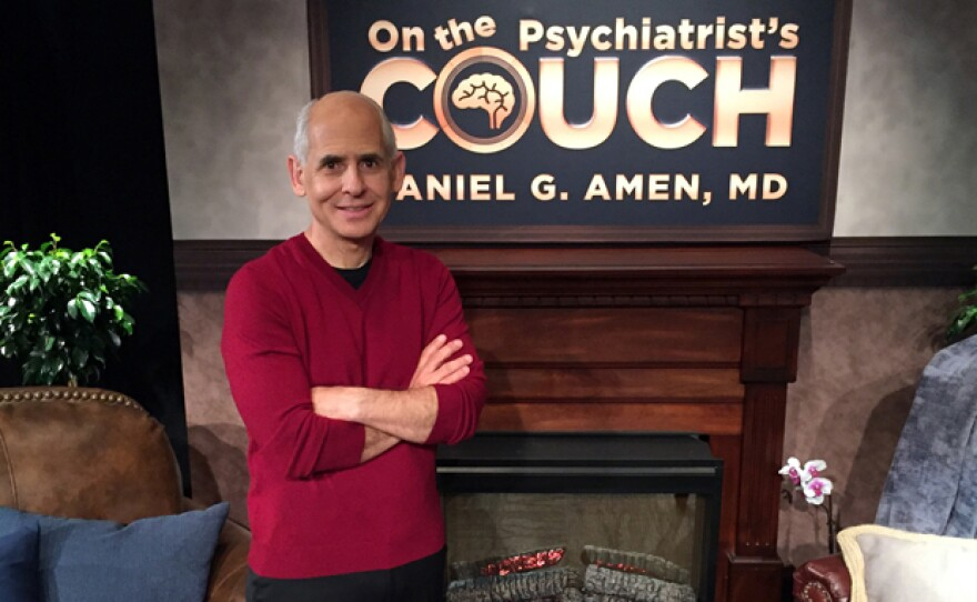 """Dr. Daniel Amen on the set of """"On The Psychiatrist's Couch."""" In his 10th national public television special Dr. Amen gives viewers the most important lessons he has taught thousands of patients over the last 35 years."""