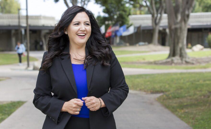 Nora Vargas in this undated campaign photo.