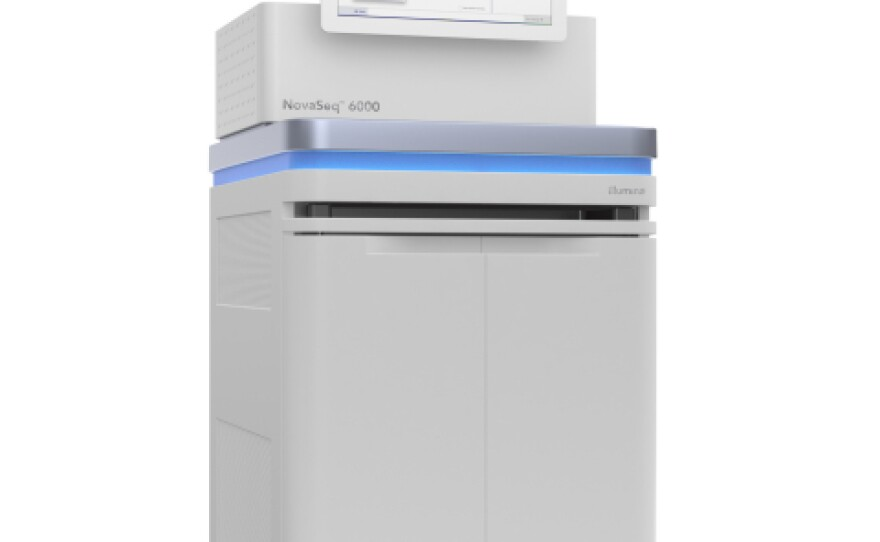 Illumina's NovaSeq 6000 machine is seen in this undated image.