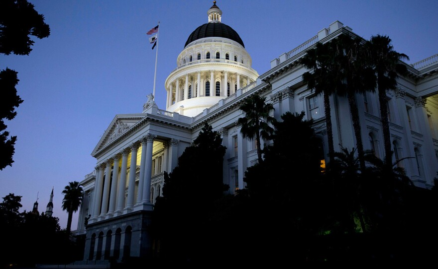 The California State Capitol in the early evening in Sacramento, Wednesday, Aug. 31, 2016.