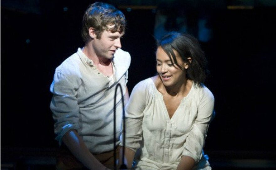 """Actors Bobby Steggert and Corbin Reid in the La Jolla Playhouse's Page to Stage production of """"The Nightingale."""""""