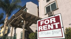 A sign advertises a one bedroom apartment for rent in front of a building in Golden Hill. Jan. 27, 2021.